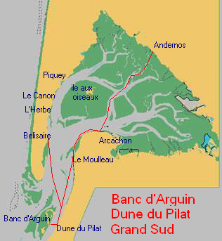 Bassin D Arcachon Bateau Dune Pilat Banc Darguin Promenade Mer