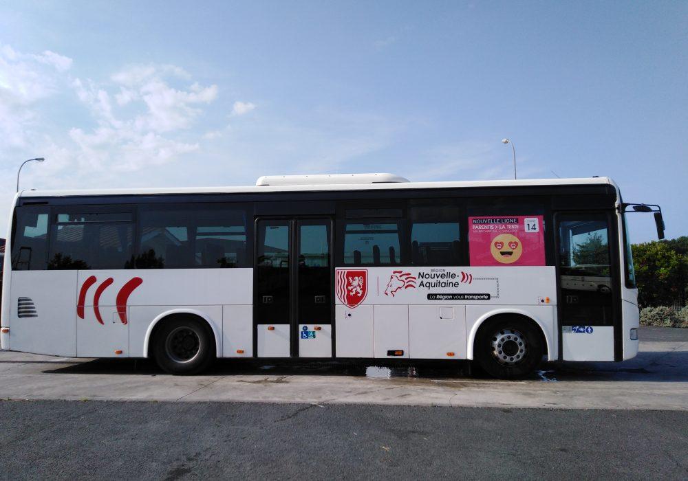 bus entre Parentis et La Teste