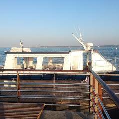 bateau au depart du cap ferret