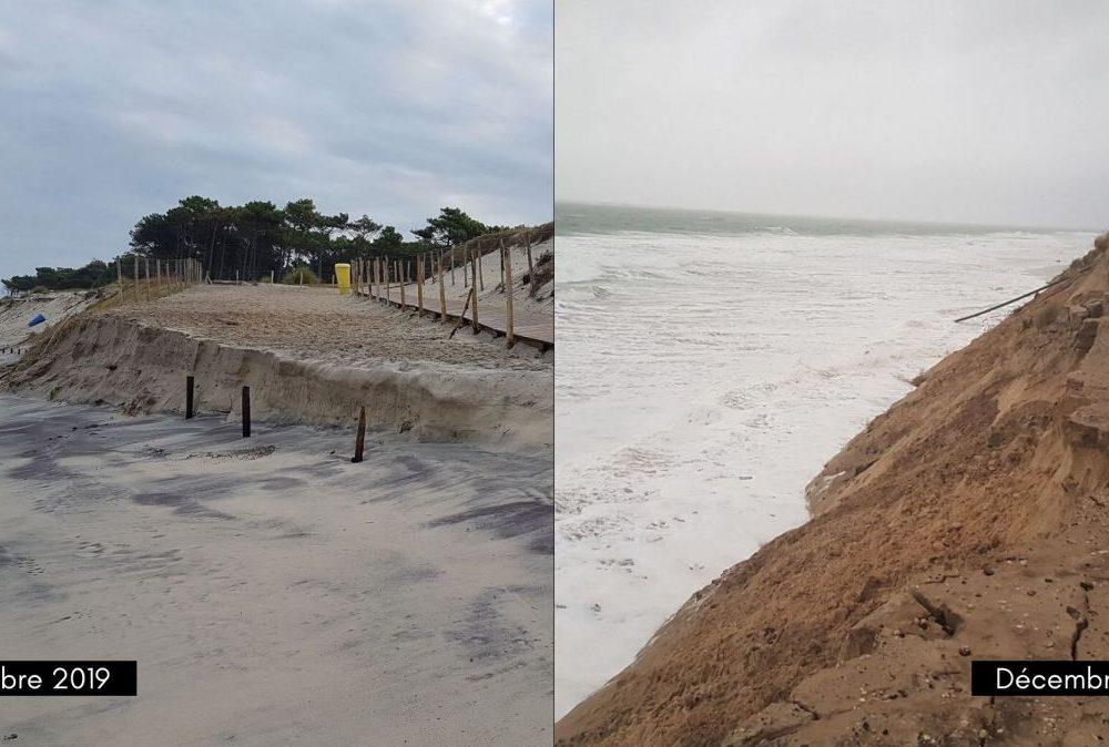 Erosion plage de La Teste