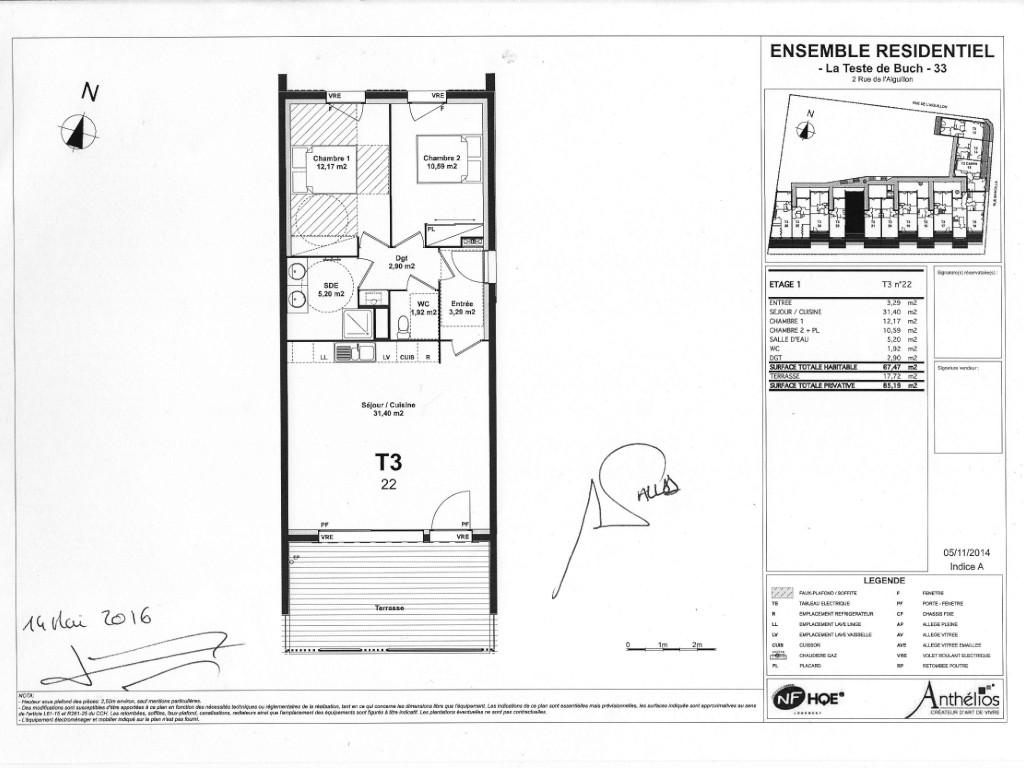 (Français) Plan appartement Arcachon.